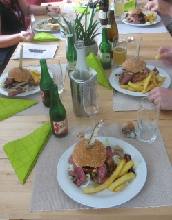 Mr. Big Burger on the table.