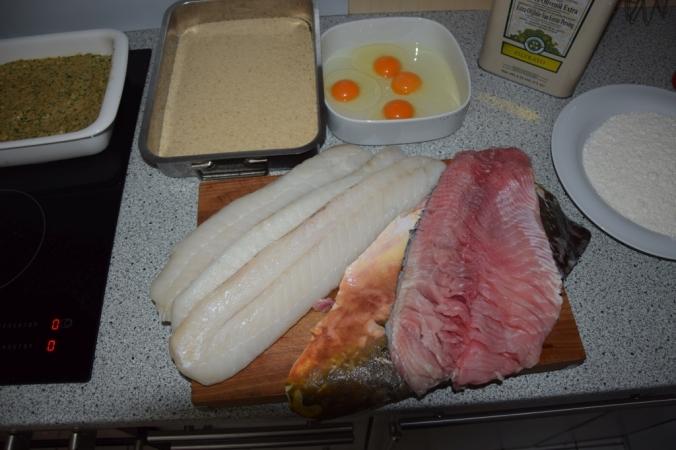 Zutaten Panierter Fisch
