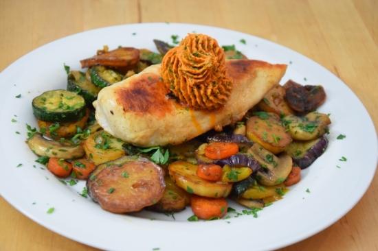 Gemüsepfanne mit Hühnerbrust Title