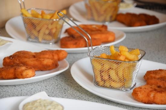 Englisches Menü mit Fish n Chips