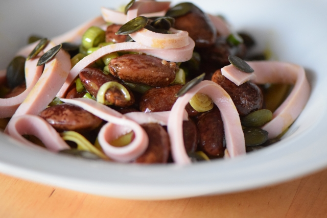 Käferbohnensalat mit Parpadelle (11)