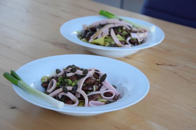Käferbohnensalat mit Parpadelle (7)