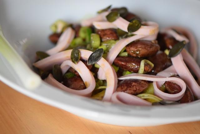 Käferbohnensalat mit Parpadelle (8)