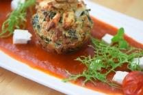 Semmelknödelmuffins mit Tomatensauce (15)