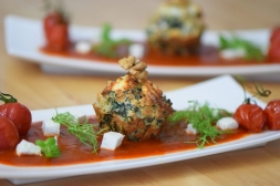 Semmelknödelmuffins mit Tomatensauce (16)
