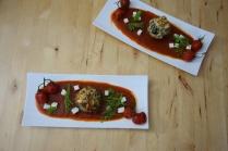 Semmelknödelmuffins mit Tomatensauce (17)