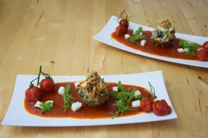 Semmelknödelmuffins mit Tomatensauce (20)