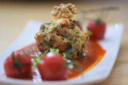 Semmelknödelmuffins mit Tomatensauce (36)