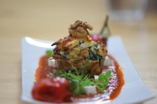 Semmelknödelmuffins mit Tomatensauce (38)