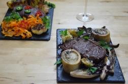 Bison mit gebratenem Radicchio-Artischocken-Salat (14)
