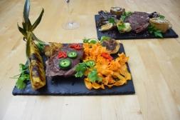 Bison mit gebratenem Radicchio-Artischocken-Salat (15)
