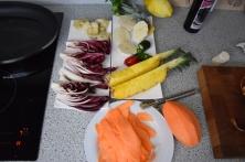 Bison mit gebratenem Radicchio-Artischocken-Salat (3)