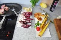 Bison mit gebratenem Radicchio-Artischocken-Salat (4)