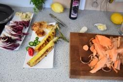 Bison mit gebratenem Radicchio-Artischocken-Salat (5)