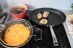 Bison mit gebratenem Radicchio-Artischocken-Salat (6)