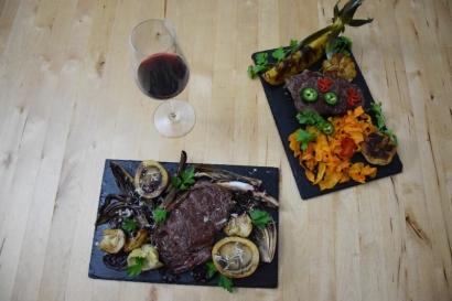 Bison mit gebratenem Radicchio-Artischocken-Salat (9)
