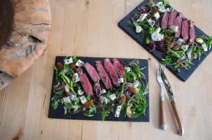 Bisonsteak mit Pekannüsse-Rucola-Salat (10)