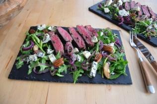 Bisonsteak mit Pekannüsse-Rucola-Salat (11)
