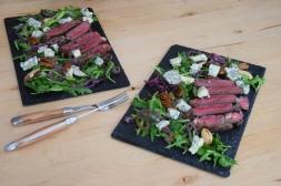 Bisonsteak mit Pekannüsse-Rucola-Salat (16)