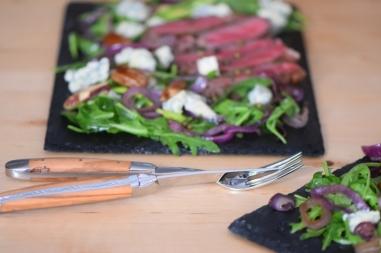 Bisonsteak mit Pekannüsse-Rucola-Salat (21)