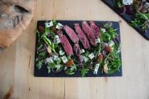 Bisonsteak mit Pekannüsse-Rucola-Salat (7)