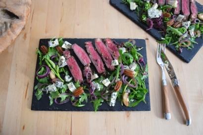 Bisonsteak mit Pekannüsse-Rucola-Salat (9)