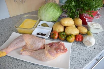 Hühnerkeulen Ofen-Erdapfelscheiben (1)