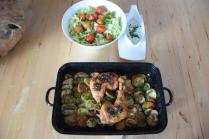 Hühnerkeulen Ofen-Erdapfelscheiben (5)