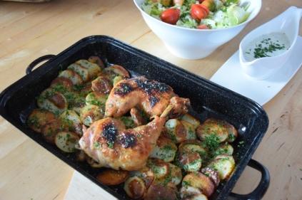 Hühnerkeulen Ofen-Erdapfelscheiben (6)