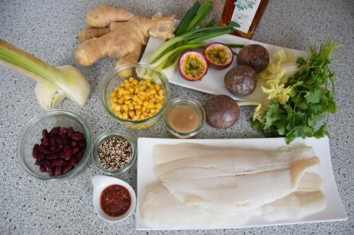 Heilbutt-Ceviche mit Stangensellerie-Passionsfrucht-Sauce (1)