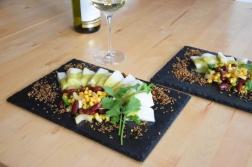 Heilbutt-Ceviche mit Stangensellerie-Passionsfrucht-Sauce (14)