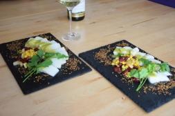 Heilbutt-Ceviche mit Stangensellerie-Passionsfrucht-Sauce (15)