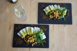 Heilbutt-Ceviche mit Stangensellerie-Passionsfrucht-Sauce (16)