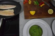 Saibling auf Spargel-Spinat-Kartoffelpüree (3)