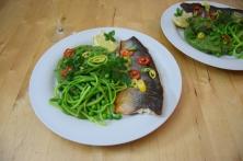 Saibling auf Spargel-Spinat-Kartoffelpüree (6)