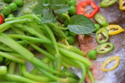 Saibling auf Spargel-Spinat-Kartoffelpüree (9)