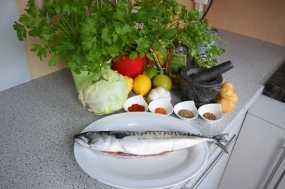 Gebratene Makrele mit Kartoffelstampf (1)