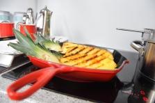 Gegriller Wolfsbarsch und gegrille Ananas (4)