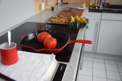 Gegriller Wolfsbarsch und gegrille Ananas (6)