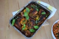 Hähnchenkeulen mit Karottensalat (5)