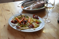 Rotbarsch in Folie mit Gemüse und Zitronenschaum (11)