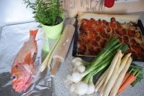 Rotbarsch in Folie mit Gemüse und Zitronenschaum (2)