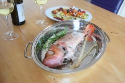 Rotbarsch in Folie mit Gemüse und Zitronenschaum (8)