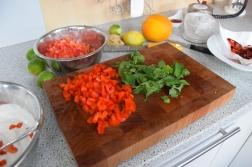 Tomaten-Dip, Mango-Dip, Paprika-Dip (2)