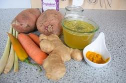 Topinambursuppe Süßkartoffel-Ingwersuppe (2)