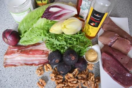 Gebratene Rindsleber mit Feigensalat (1)