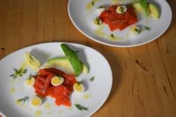 Lachs, Avocado, Wachteleier (3)