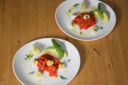 Lachs, Avocado, Wachteleier (4)