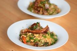 Rindfleisch aus dem Wok mit Reis und Gemüse (18)