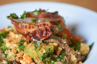 Rindfleisch aus dem Wok mit Reis und Gemüse (21)